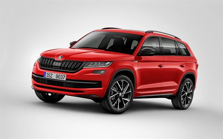 Download Wallpapers Skoda Kodiaq 2017 New Skoda Red Crossover