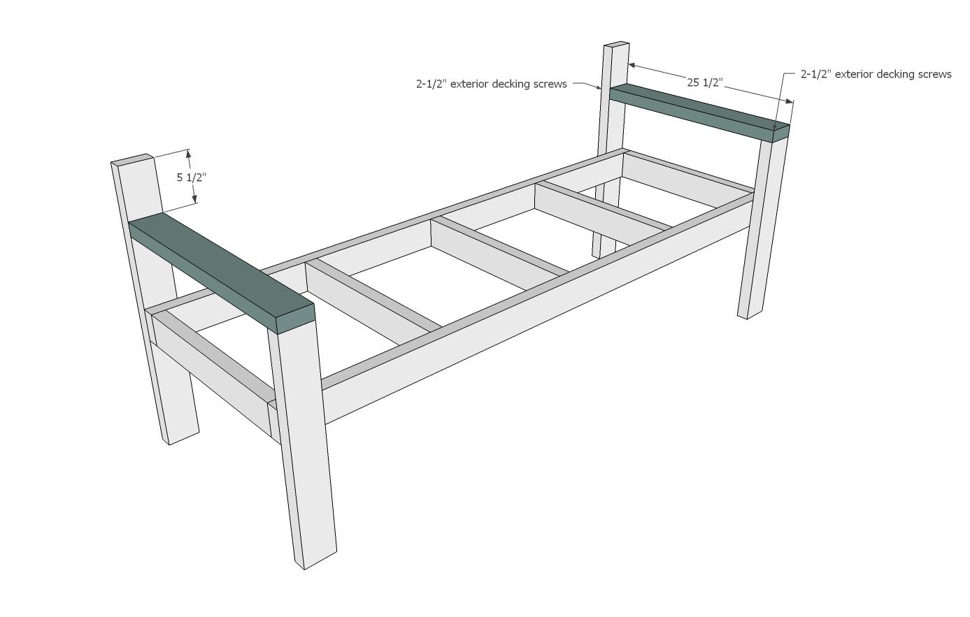 Cool Modern Park Bench Bench Ana White Bench Plans Diy Bench Onthecornerstone Fun Painted Chair Ideas Images Onthecornerstoneorg