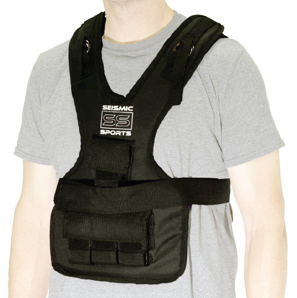 Seismic Sports SS20VBK Adjustable Weighted Vest 20 lb