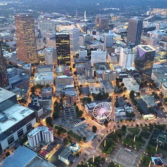 Downtown Atlanta at daybreak City photo, City, Aerial