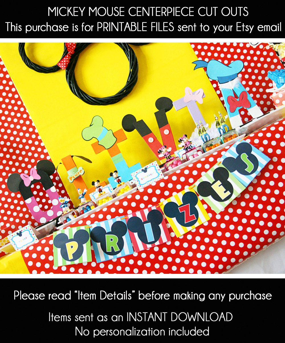 Etsy Product | Mickey mouse clubhouse decorations, Mickey mouse ...