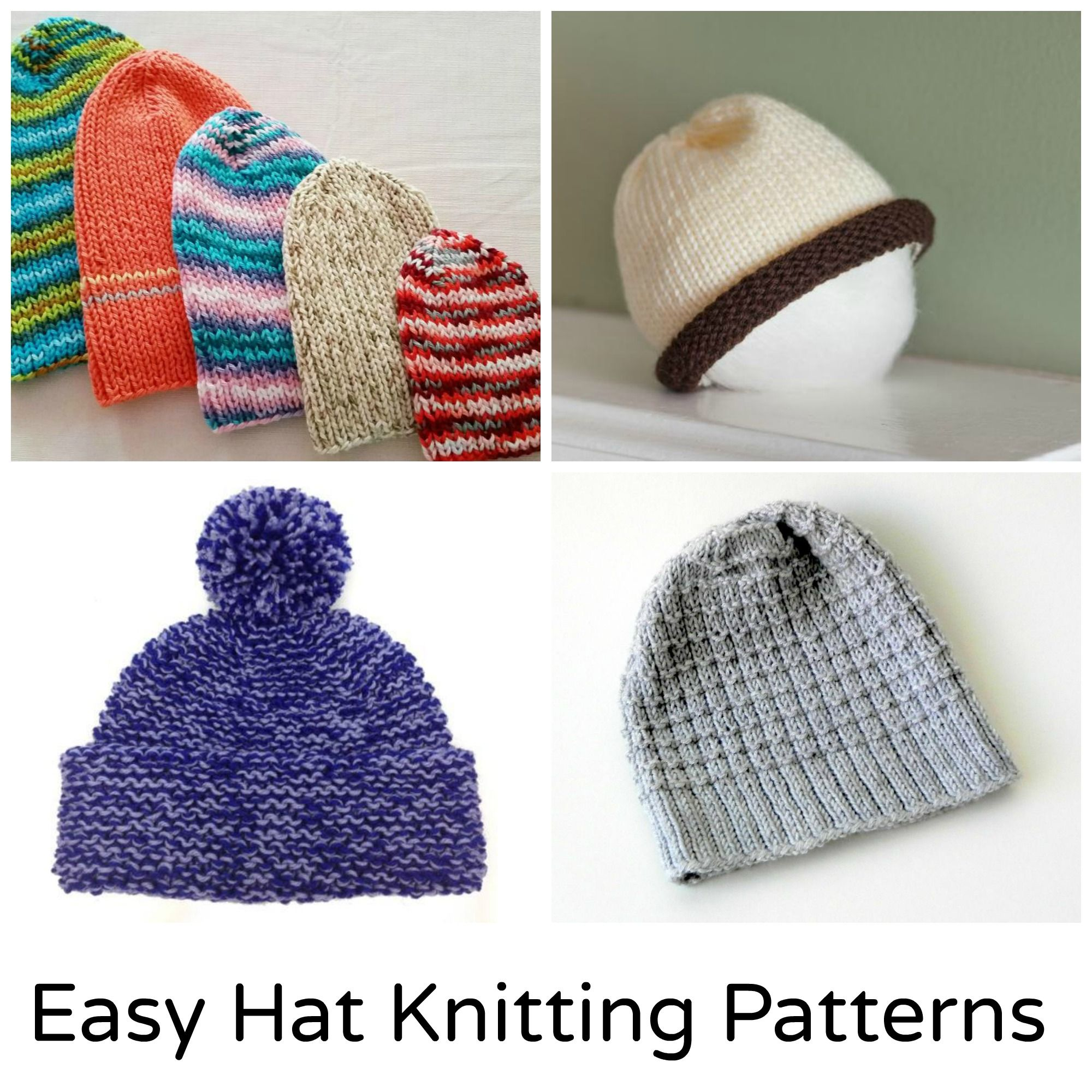 4f9844c3259cf3 Roundup: 12 free quick and easy knitting hat patterns, curated by The  Feisty Redhead for Craftsy