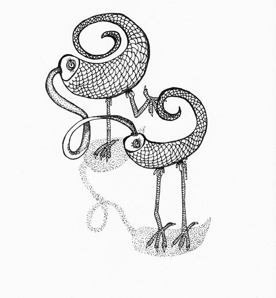 lover birds - by Madame Fourmilion
