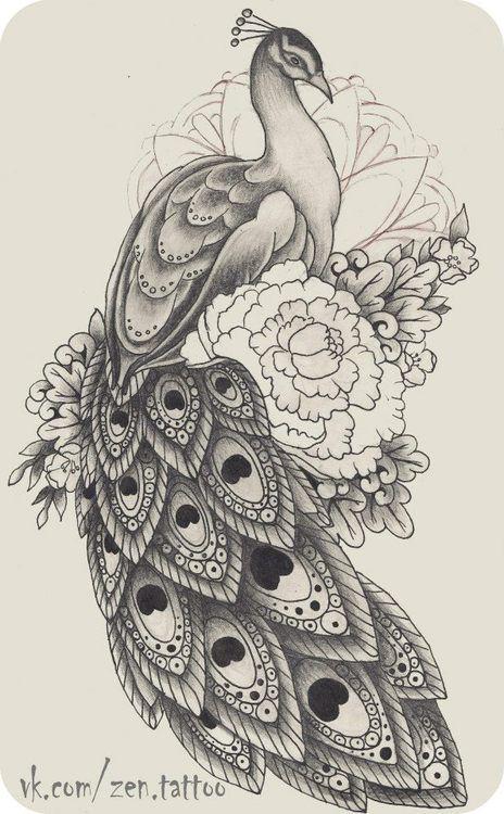 Tumblr Pavao Desenho Tatuagem De Pavao Tatuagem India Com Lobo