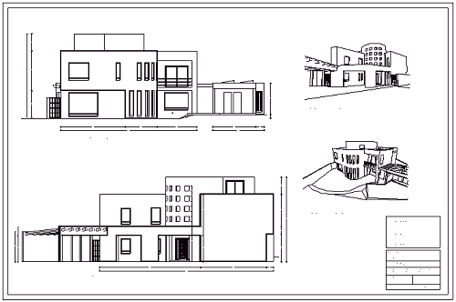 Fachada arquitect nica planos de fachadas fachadas for Simbologia arquitectonica para casas