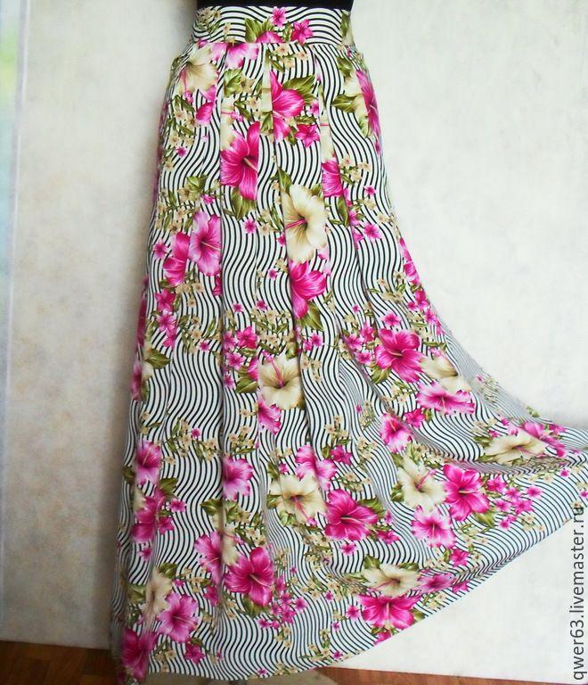 Вискоза для юбки в пол