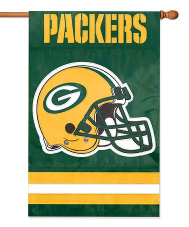 Discount Take a look at this Green Bay Packers Banner Flag by NFL Game Day  free shipping F8cPVbQ8