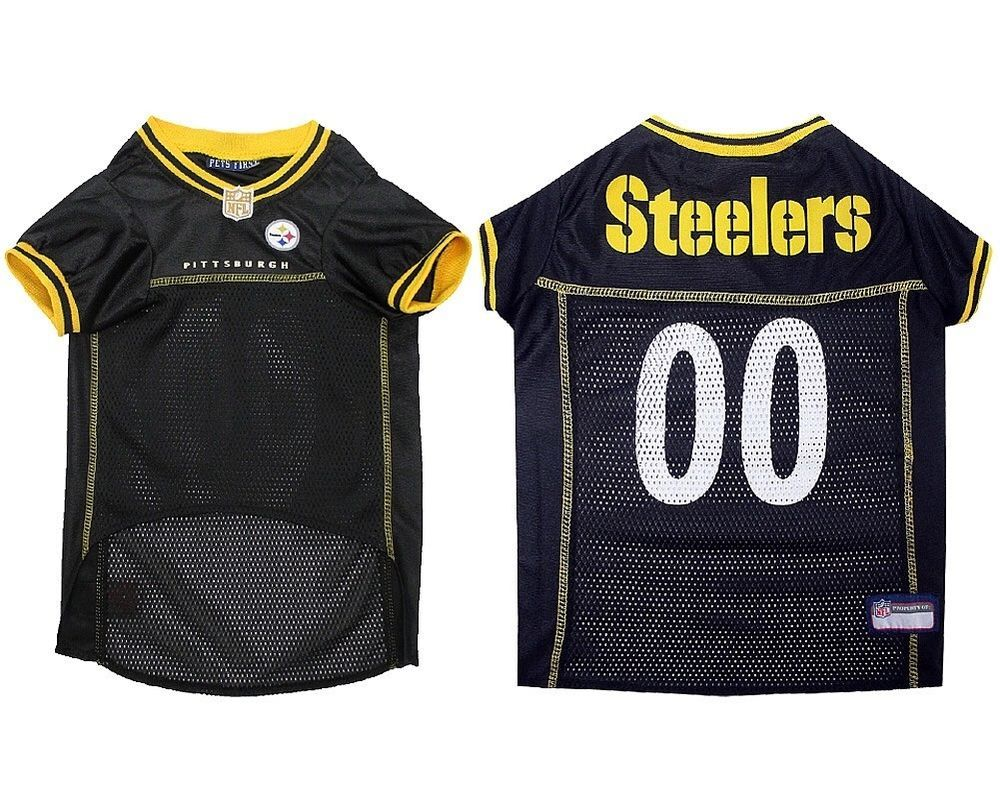 NFL Pittsburgh Steelers Dog Jersey - Licensed NFL DOG JERSEY - Pet Supplies d9561f54a33