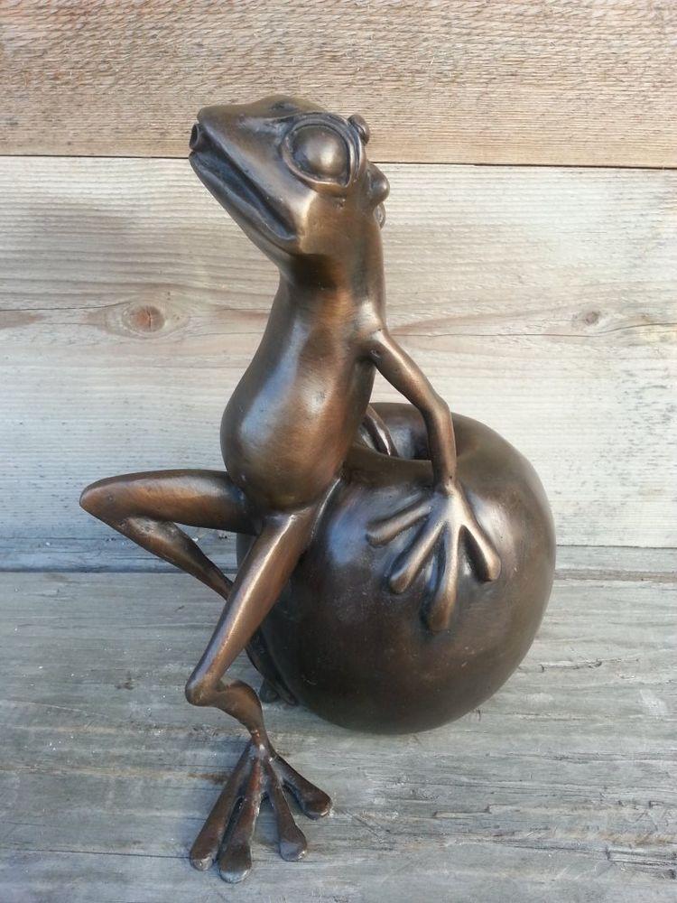 raritÄt bronze frosch wasserspiel frosch - wasserspeier teich, Gartenarbeit ideen