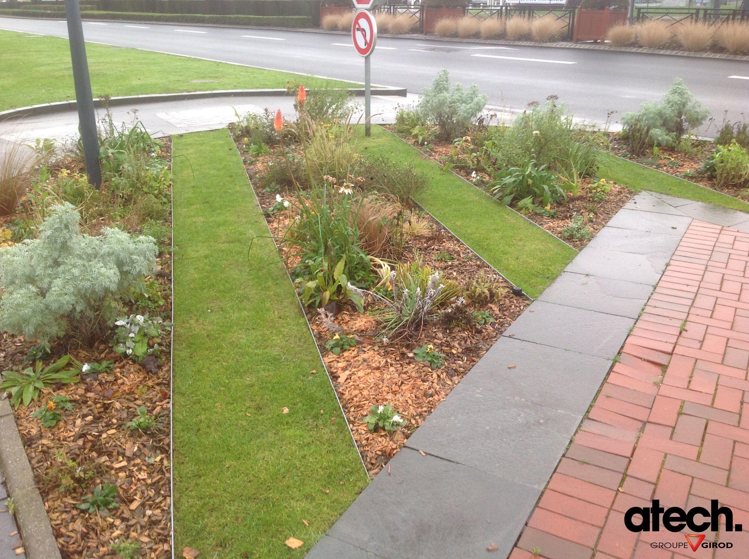 Bordure de jardin enterr e en acier galvanis jardin for Bordure jardin acier