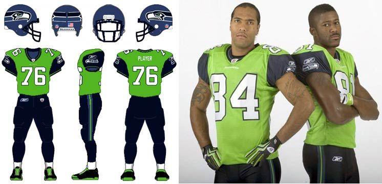 Seattle Seahawks Uniform History Page Seahawks Uniforms Seattle Seahawks Seahawks