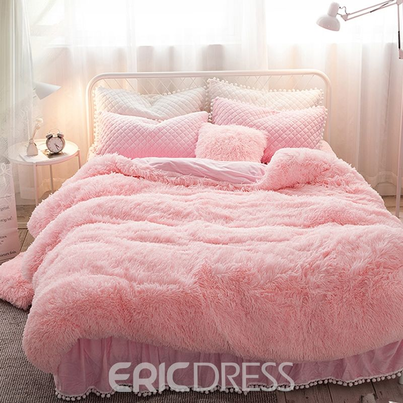 Vivilinen Princess Style Solid Pink With Quilting Bed