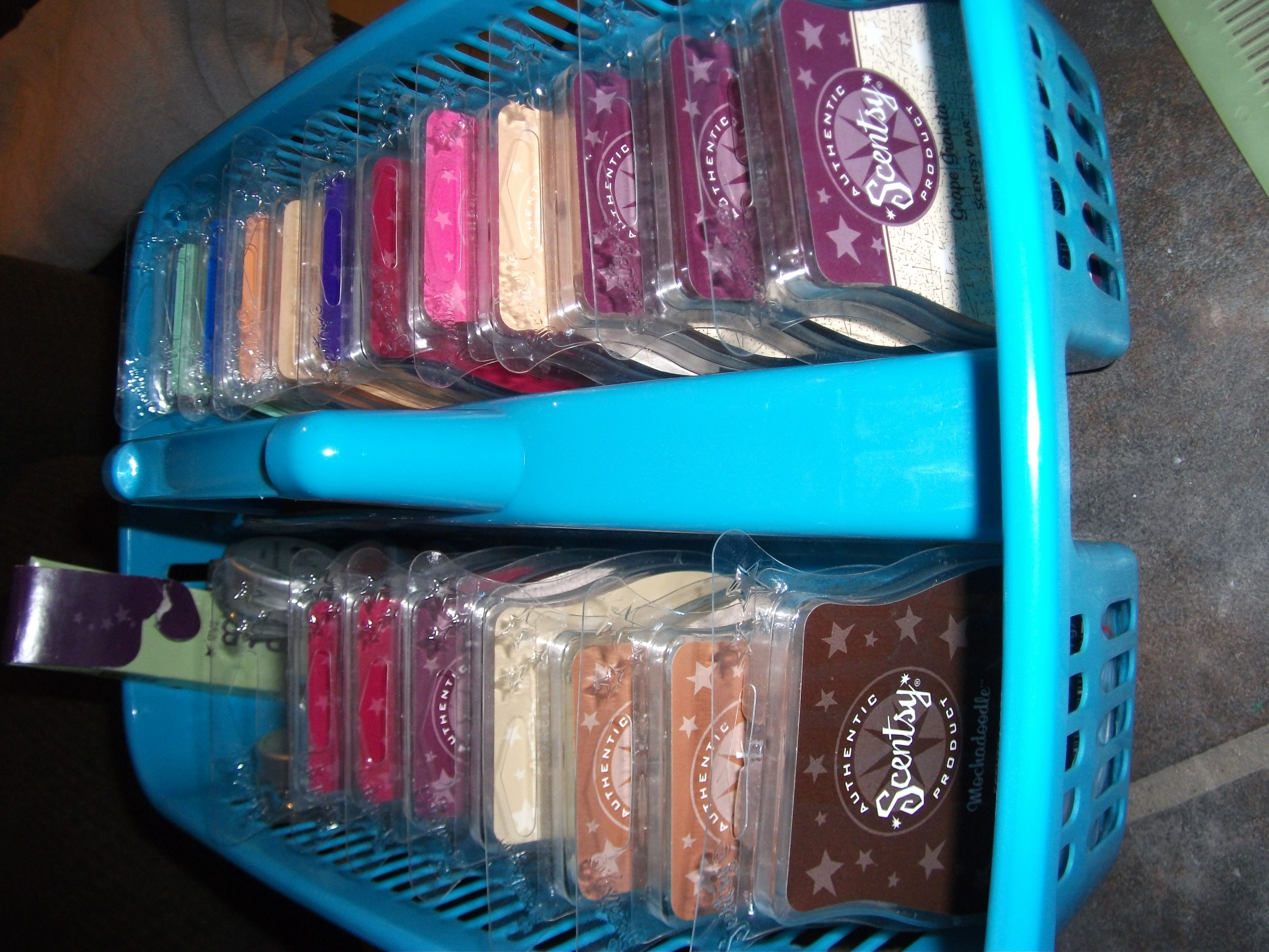 Shower caddy as Scentsy bar organizer.. much better than the mess of ...