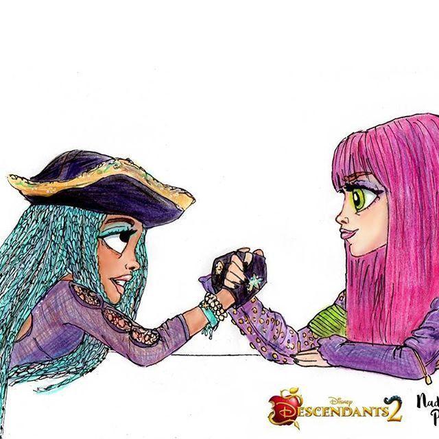 Dibujos Para Colorear Descendientes 2 Dibujos Para