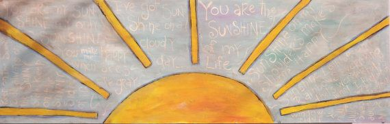 HUGE Sunshine Painting with sun themed song by TheCatsPyjamas, $225.00