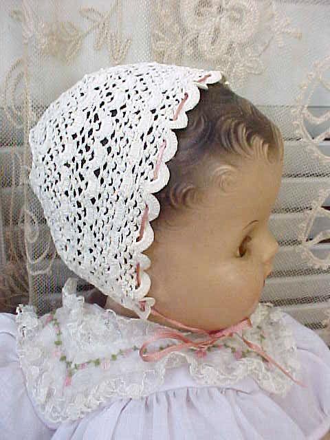 Dear LIttle Antique Crochet Baby Bonnet with Star Design-Great on ...
