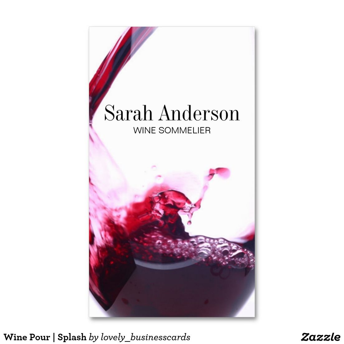 Wine Pour | Splash Business Card | Business cards and Business