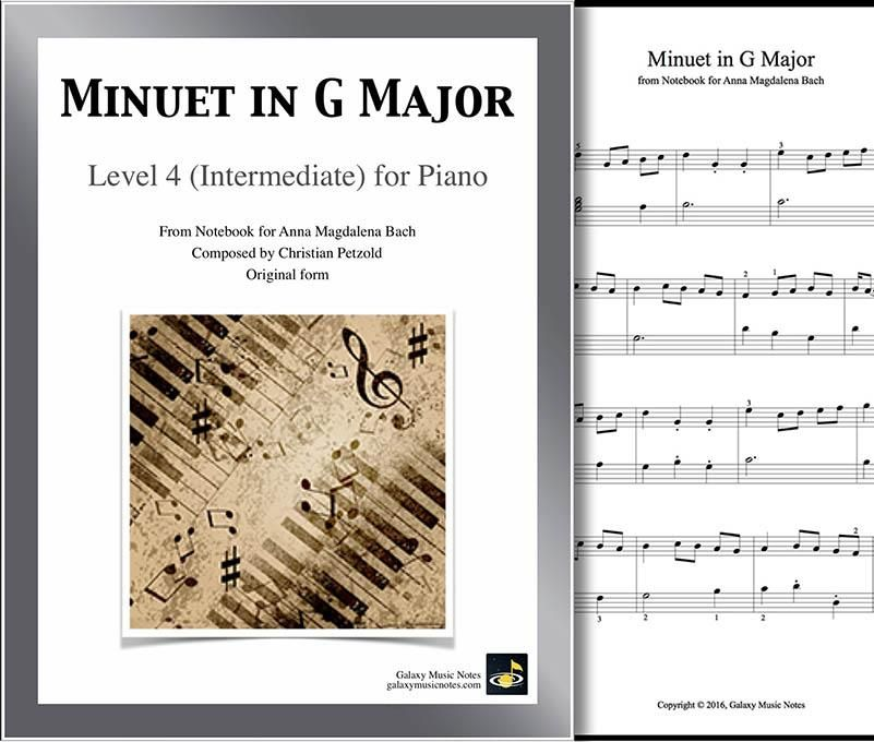 Minuet In G Major In 2019 Classical Music Piano Sheet Music