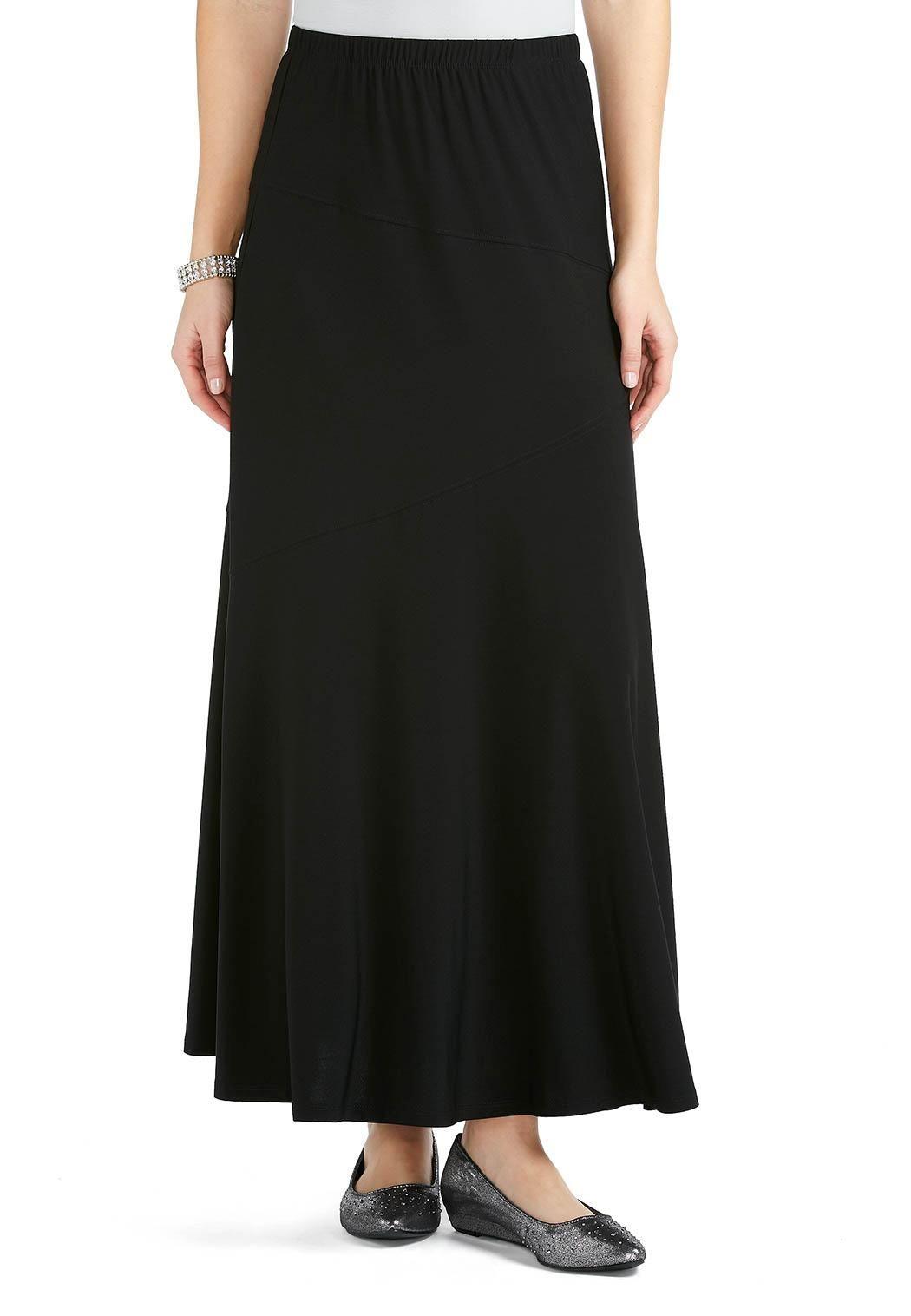 fd5dbe93d6a Zigzag Seam Maxi Skirt - Plus Skirts Cato Fashions
