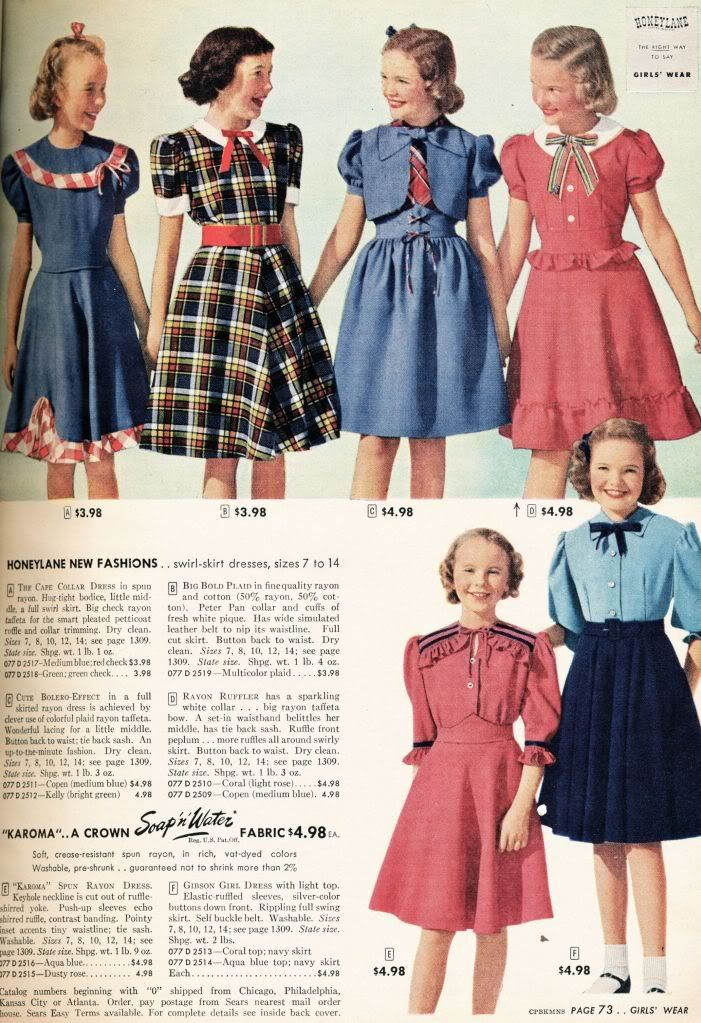 88a95a597 what-i-found: Sears, Roebuck and Co. Catalog from 1948 - Little Girls -  Dresses, Coats and Jodpurs, Oh, My!!
