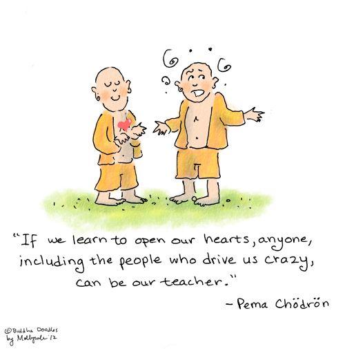 Today's Buddha Doodle - 'Teacher'   Yoga Inspirations   Pinterest ...