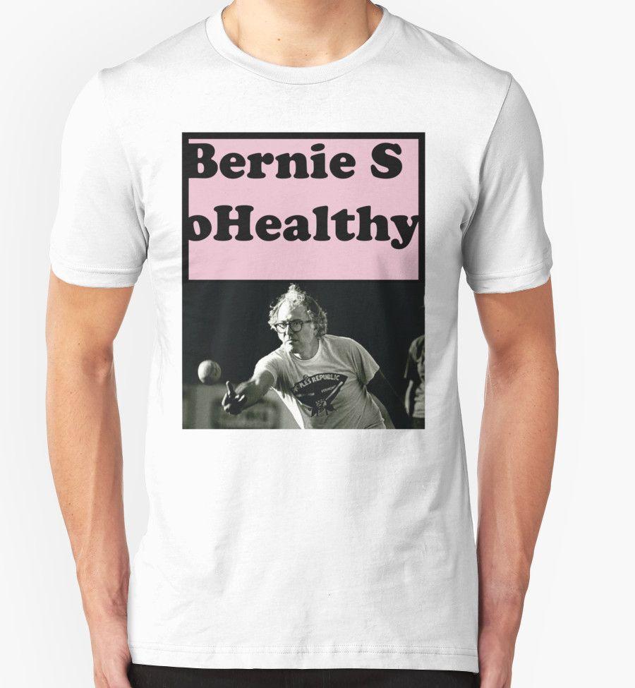 """Bernie so Healthy pink"" T-Shirts & Hoodies by codenoir | Redbubble #redbubble @redbubble #streetwear #solidarity #leftist #berniesanders #bernieorbust #stillsanders #bringbackbernie"