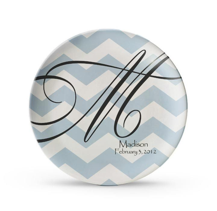 Personalized Plate Chevron Plate Personalized Monogram Plates Melamine Dinner Plate Cake Dish  sc 1 st  Pinterest & Personalized Plate Chevron Plate Personalized Monogram Plates ...