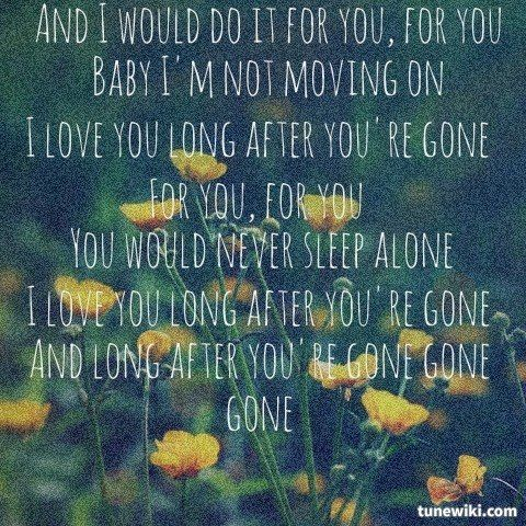 Lyricart For Gone Gone Gone By Phillip Phillips Song Lyrics