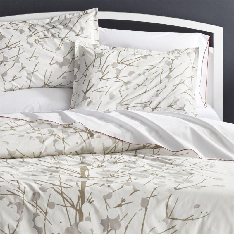 Shop Marimekko Lumimarja King Duvet Cover Make A Calm And Peaceful Bedroom Retreat With Bed Linens Inspired By Snow Cover Duvet Covers Duvet Peaceful Bedroom