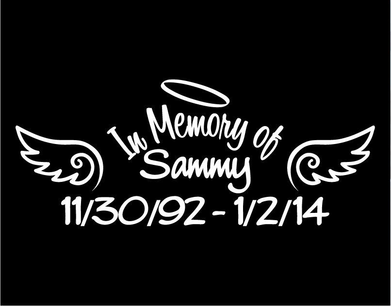 In Memory Of Sammy Decal Window Sticker Decal Baby - Window decals in memory of