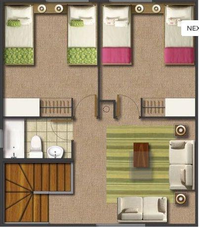 Casa 14 en el segundo piso podemos ver dos dormitorios for Bano 6 metros cuadrados