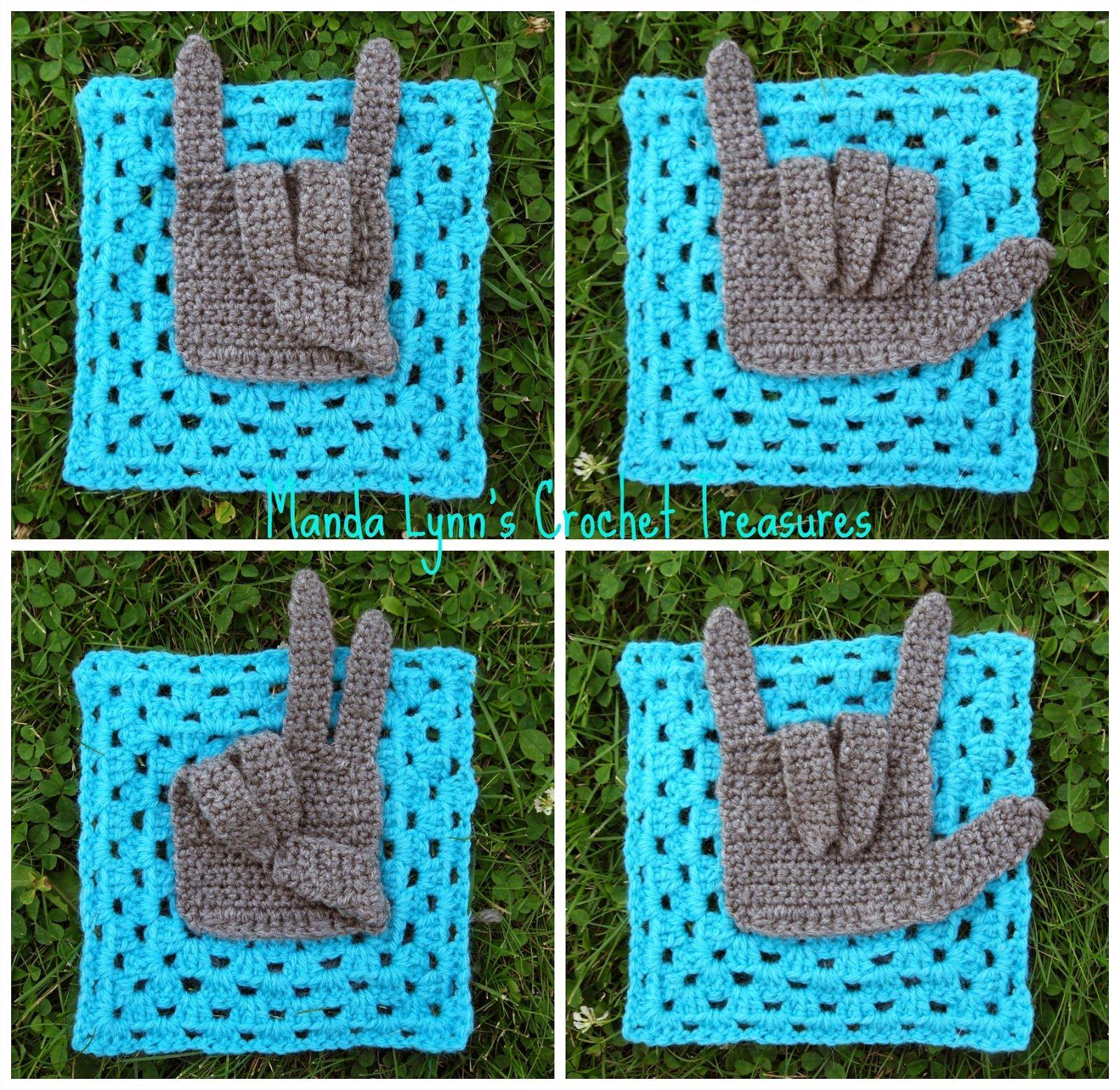 MandaLynn\'s Crochet Treasures : Give Granny a Hand   Crochet Motivos ...