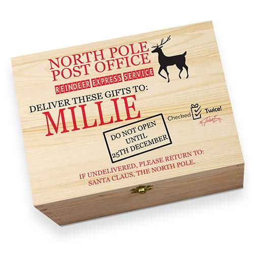 personalised the north pole post office childrens printed christmas eve box - Post Office Open On Christmas Eve