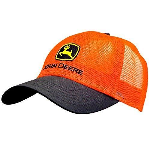 d74d6ede38c John Deere Men s Hi Vis Mesh Trucker Hat