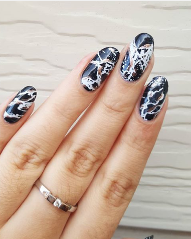 black marble nail art is taking over pinterest and here's