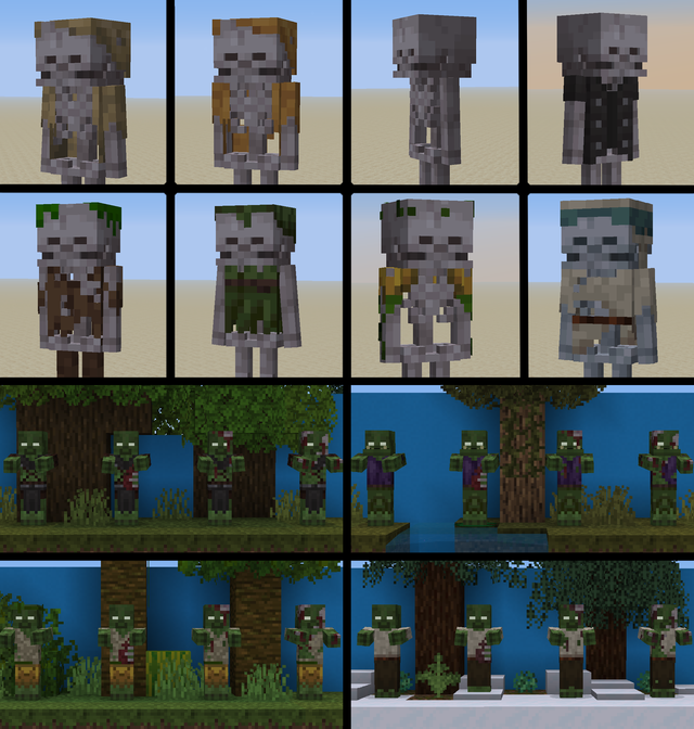 I Made Some Biome Based Mob Variants For My Resource Pack Opinions Minecraft Minecraft Designs Minecraft Art Minecraft