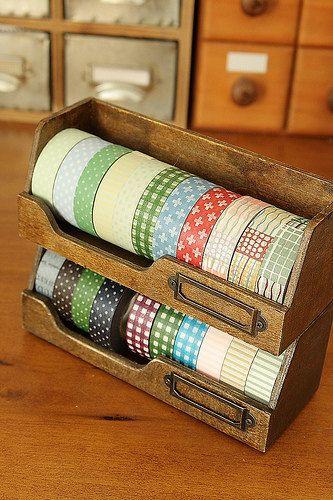 Great Washi tape dispenser from etsy seller. 2 for $27.00 + shipping
