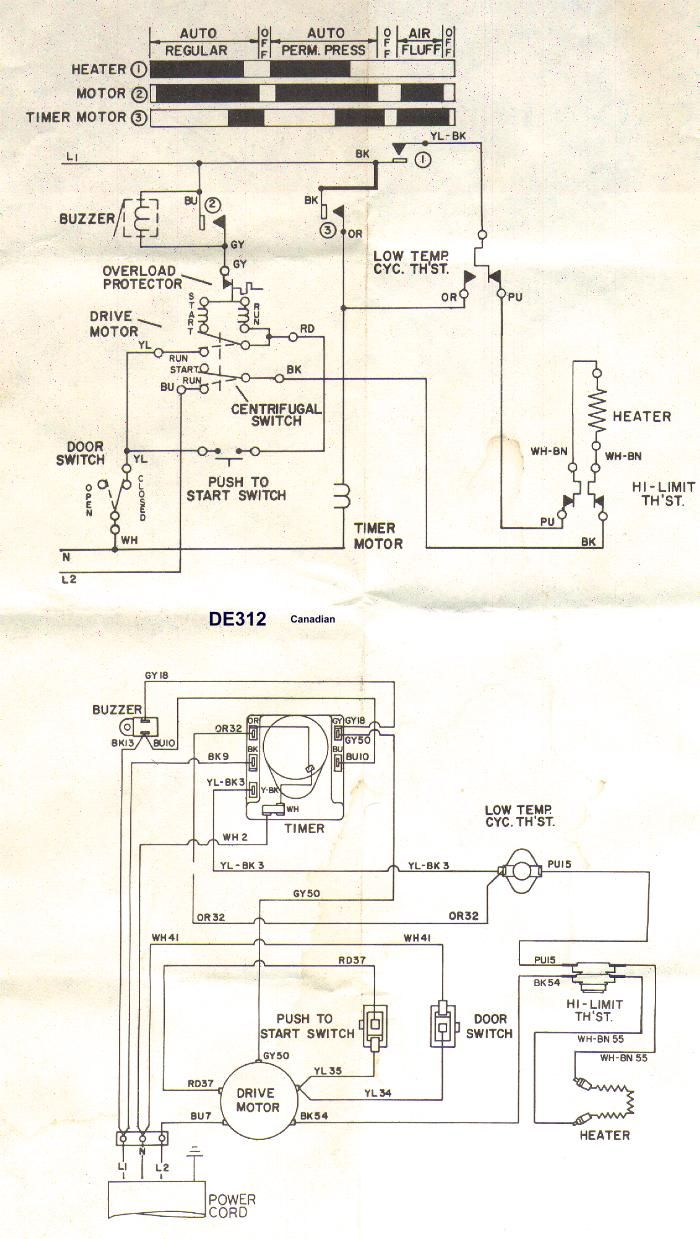 Sample Wiring Diagrams Appliance Aid Whirlpool Dryer Maytag Dryer Electric Dryers