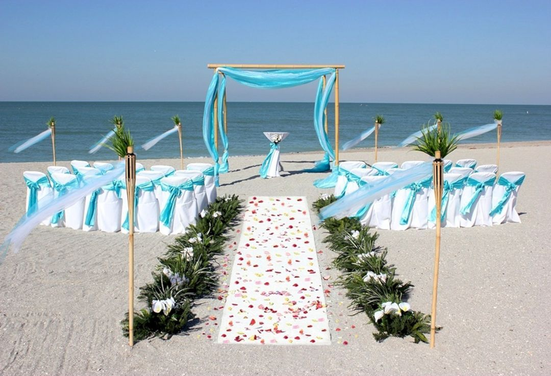 Wedding decoration ideas at the beach   Interesting and Fun Beach Wedding Ideas For   Beach