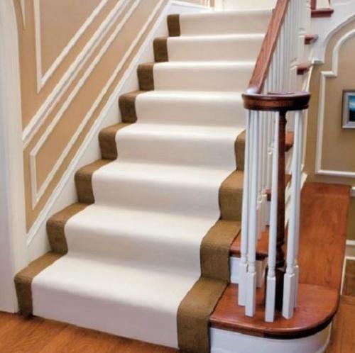 Indoor Outdoor Carpet Stairs Floor Protector Runner Rug  Non Slip 20 039 Beige Pets