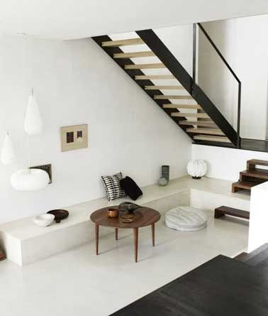 am nager un petit espace sous escalier sympa pinterest entr e de la maison petits salons et. Black Bedroom Furniture Sets. Home Design Ideas