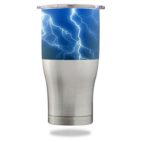 Skin Decal Wrap For Orca Chaser 27 Oz Tumbler Lightning Storm Tumbler Lightning Storm Lightning