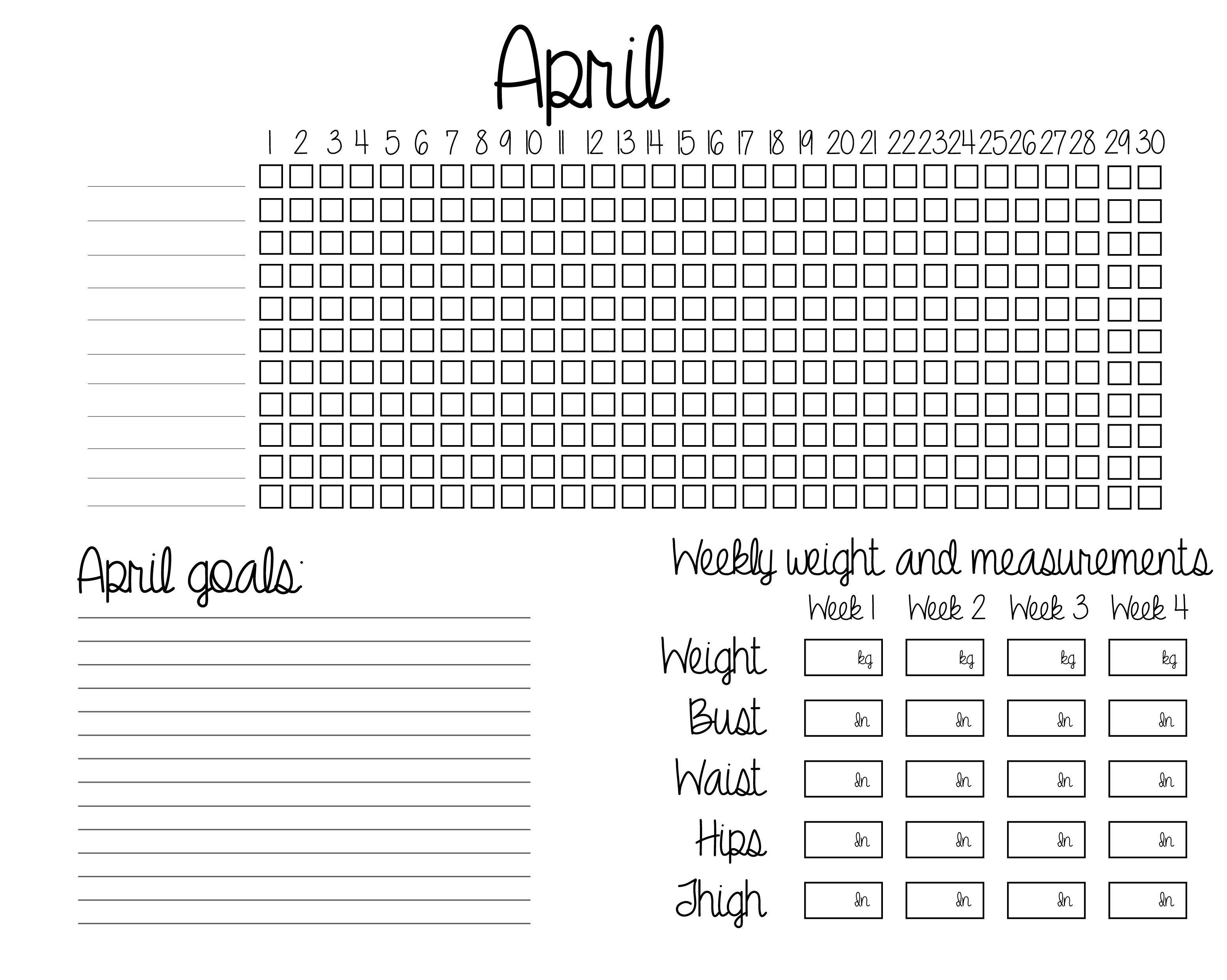 Pin On Weight Loss Goals Calendar