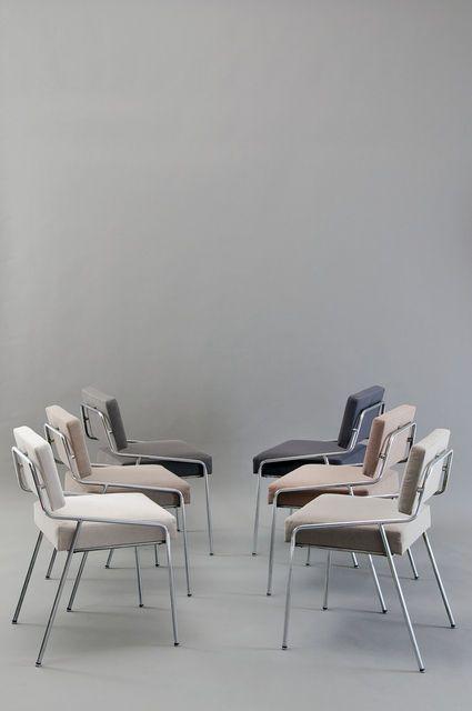 Alain Richard Set Of 6 Chairs 159 Edition Meubles Tv 1953 Artsy Furniture Design Modern Chair Furniture Design