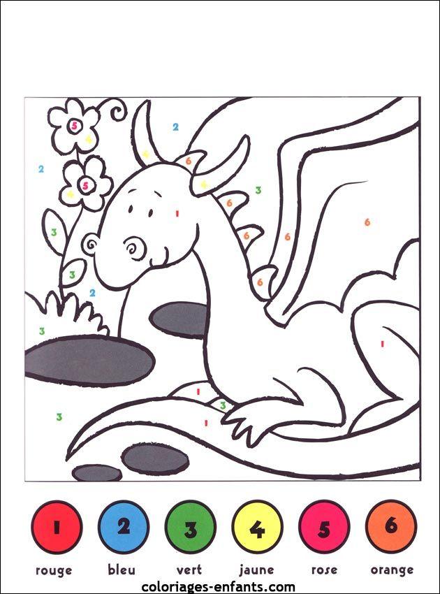Jeux De Dragons Coloriage Magique Coloriage Chiffre Jeux De Dragon