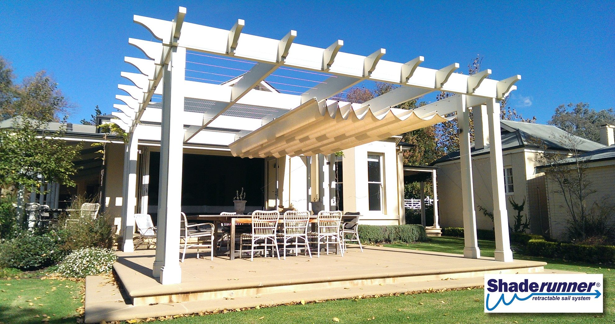 Retractable Shade Sail Perfect For Your Outdoor Alfresco Retractable Shade Shade Sail Outdoor