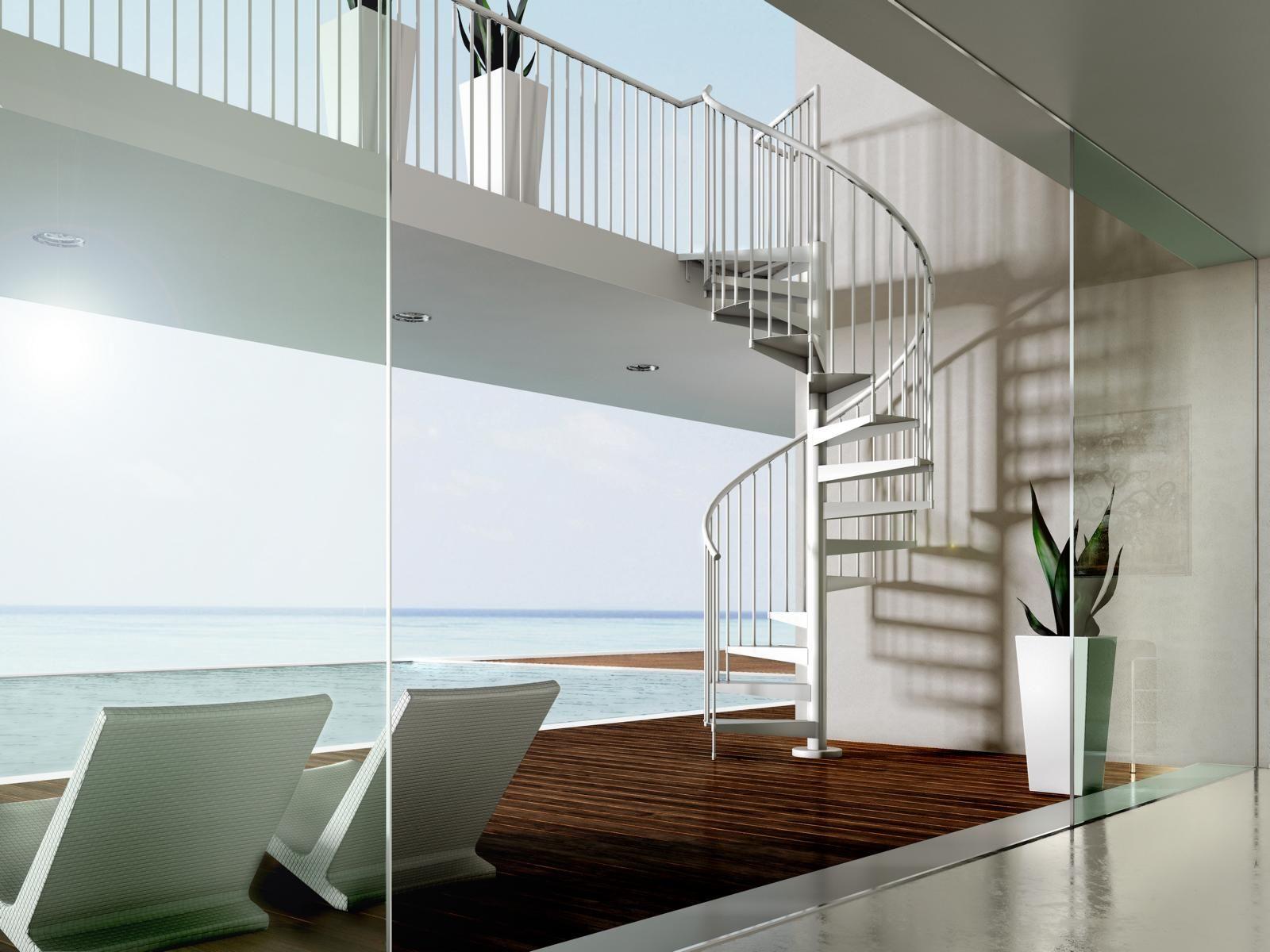 wendeltreppe spiral formstep treppen spindeltreppe mit metalltrittstufen f r den innen und. Black Bedroom Furniture Sets. Home Design Ideas
