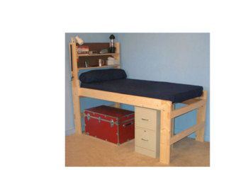Solid Wood All Sizes High Riser Bed 1000 Lbs Wt Capacity Full