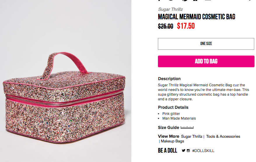 Pin by Annie Madeline on Beauty KITSCH Cosmetic bag