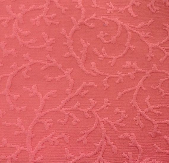 Coral Colored Coral Upholstery Fabric - Upholstery Fabric By The ...